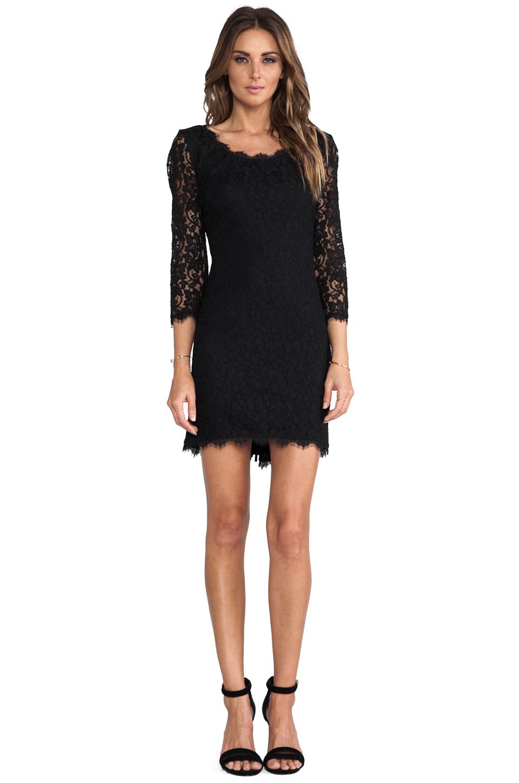 Diane von Furstenberg Zarita Scoop Dress in Black