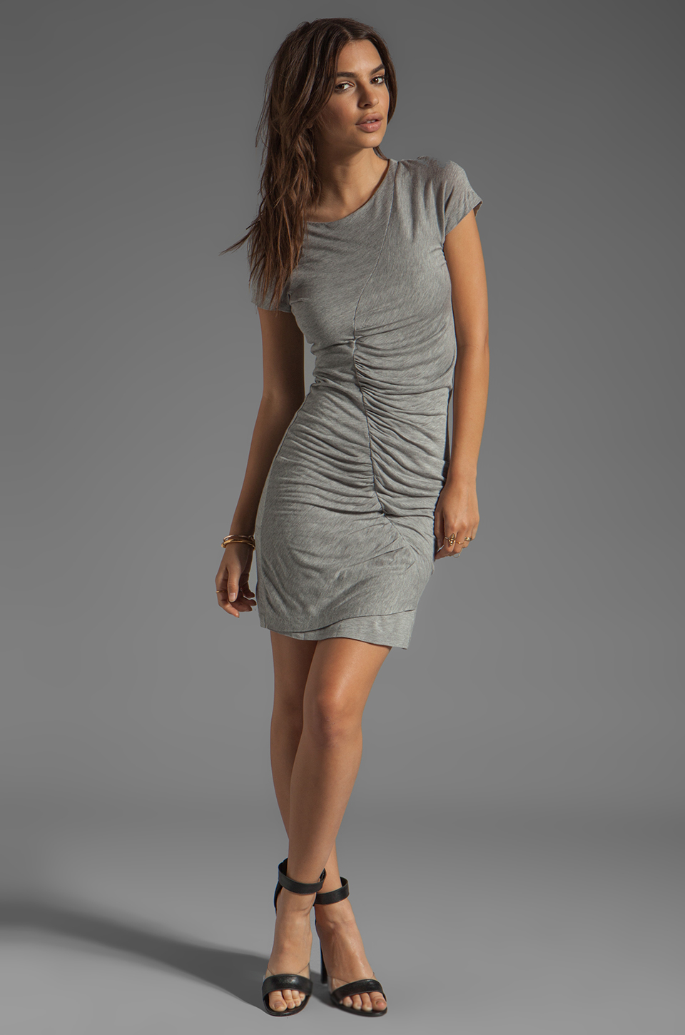 Diane von Furstenberg Meela Re-Twisted Dress in Grey