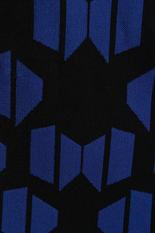 Diane von Furstenberg Franca Dress in Black/Vivid Blue