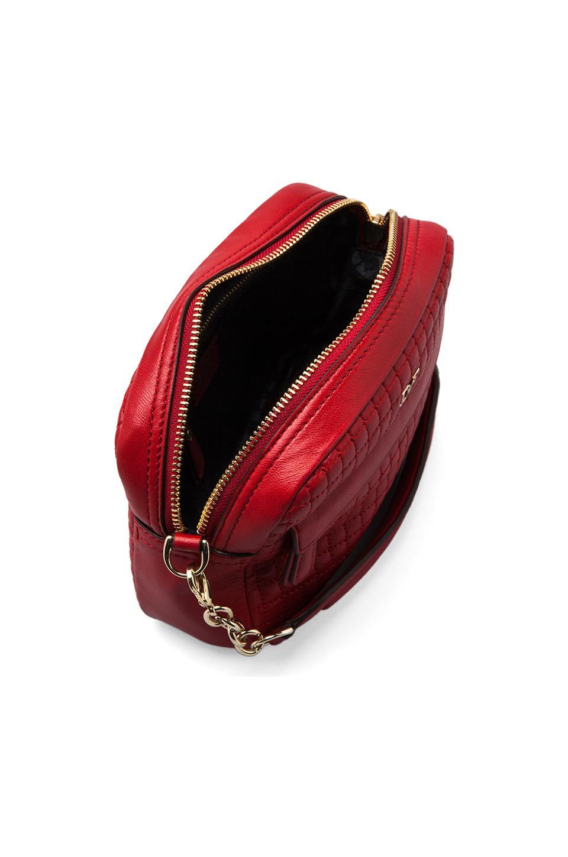 Diane von Furstenberg Milo Mini Quilted Leather Bag in Classic Red