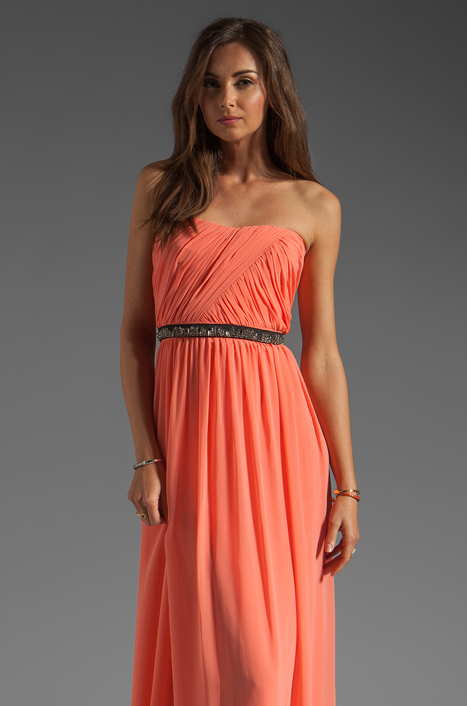 ERIN erin fetherston Skyscraper Gown in Fusion Coral