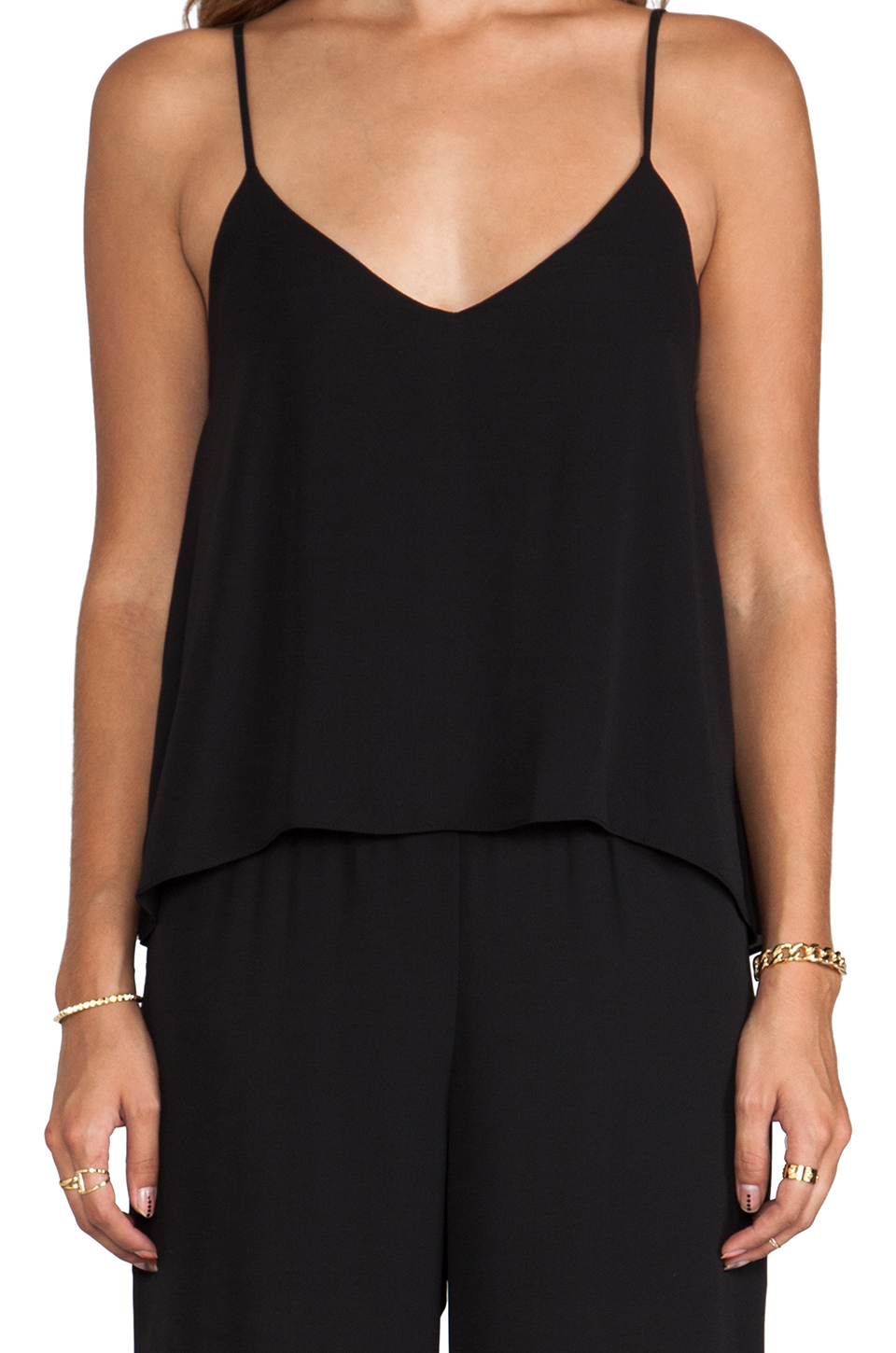 Eight Sixty Jumpsuit with Double Cami in Black
