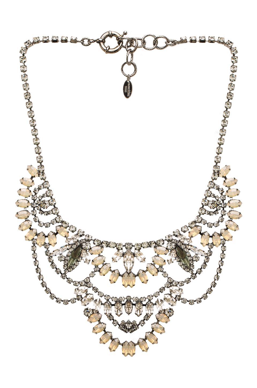 Elizabeth Cole Chandelier Necklace in Charcoal