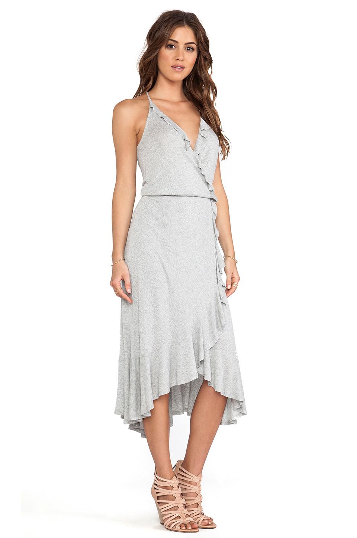 Ella Moss Icon Asymmetric Hem Dress in Grey