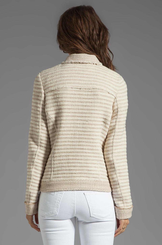 Ella Moss Salinas Stripe Jacket in Linen/Cream