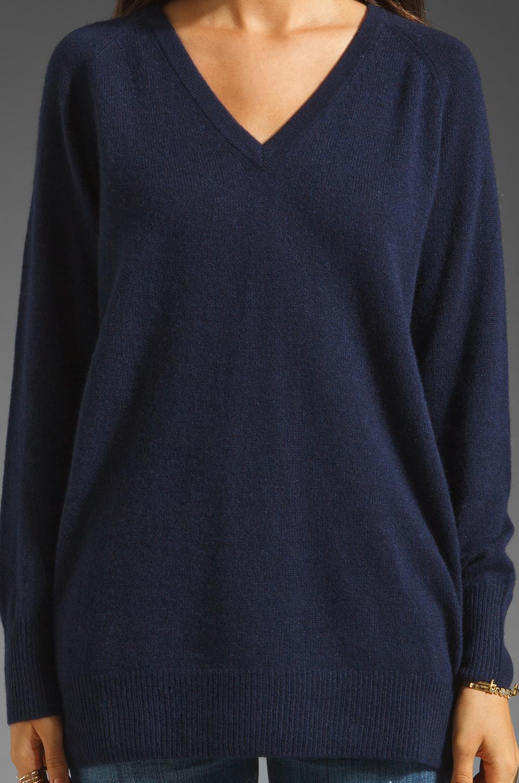 Equipment V Neck Sweater in Peacoat