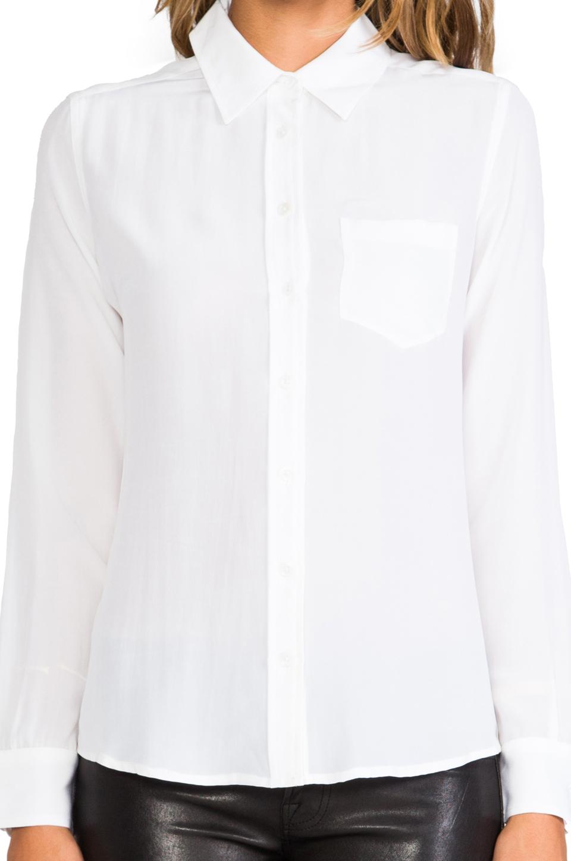 Equipment Brett Vintage Wash Blouse in Bright White