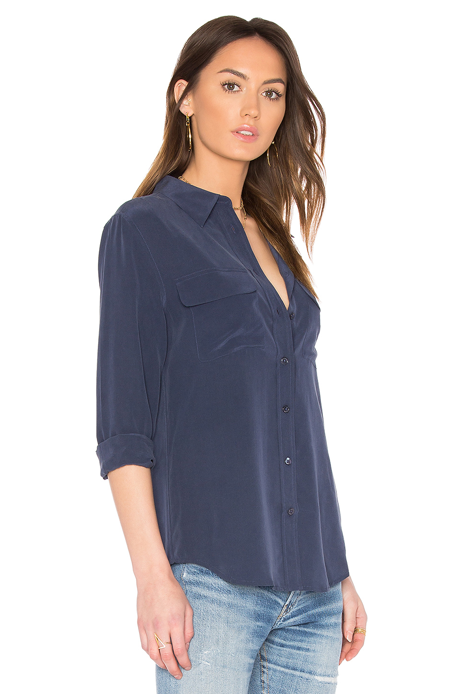 Equipment 39 signature 39 sheer silk blouse long blouse with for Equipment signature silk shirt