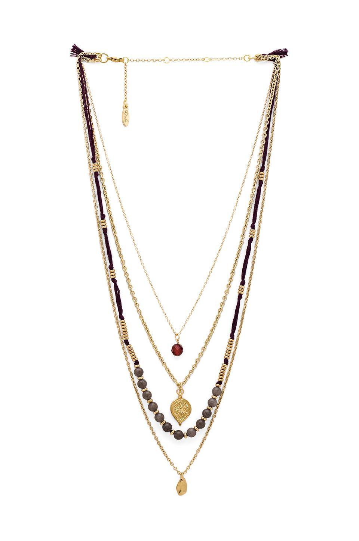 ettika multi layered necklace in plum revolve