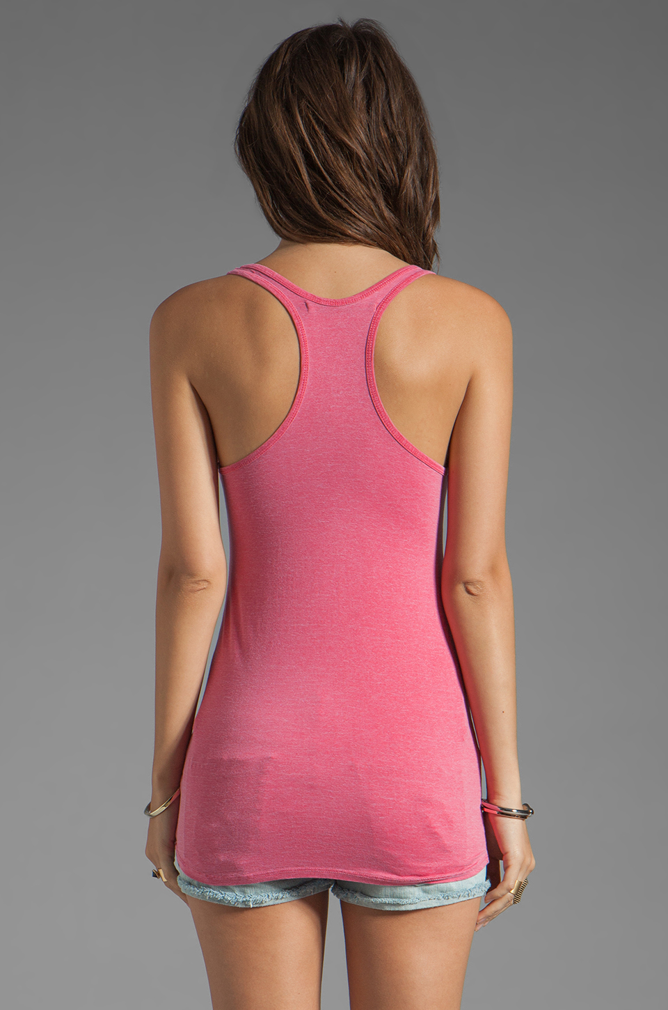 Feel the Piece Terrific Racer V-Neck Tank in Hot