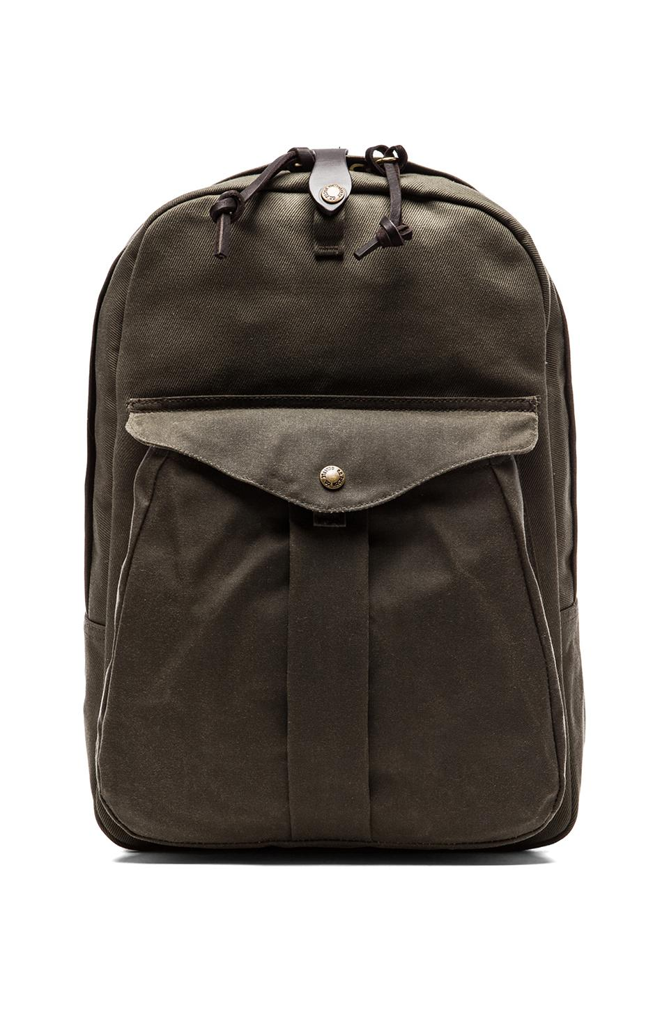 Filson Twill Backpack in Otter Green/ Otter Green