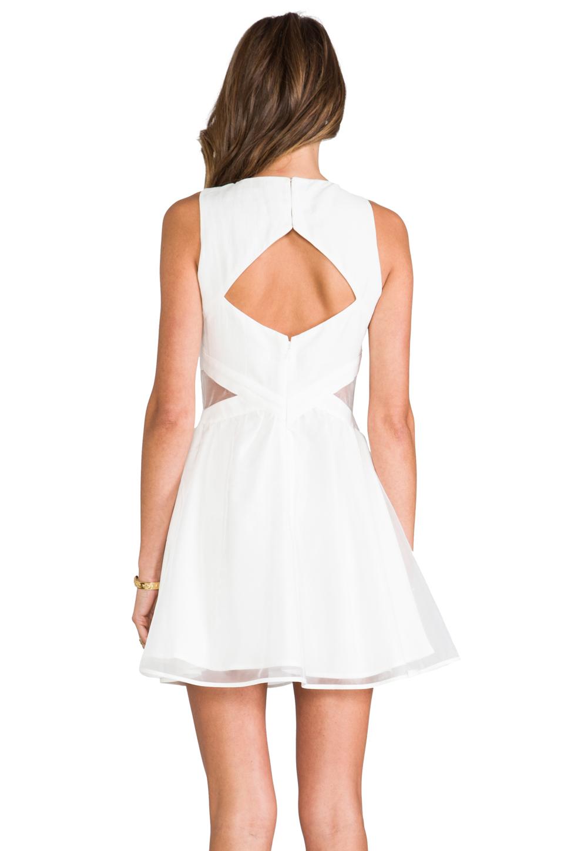 Finders Keepers Broken Heart Dress in Ivory/White