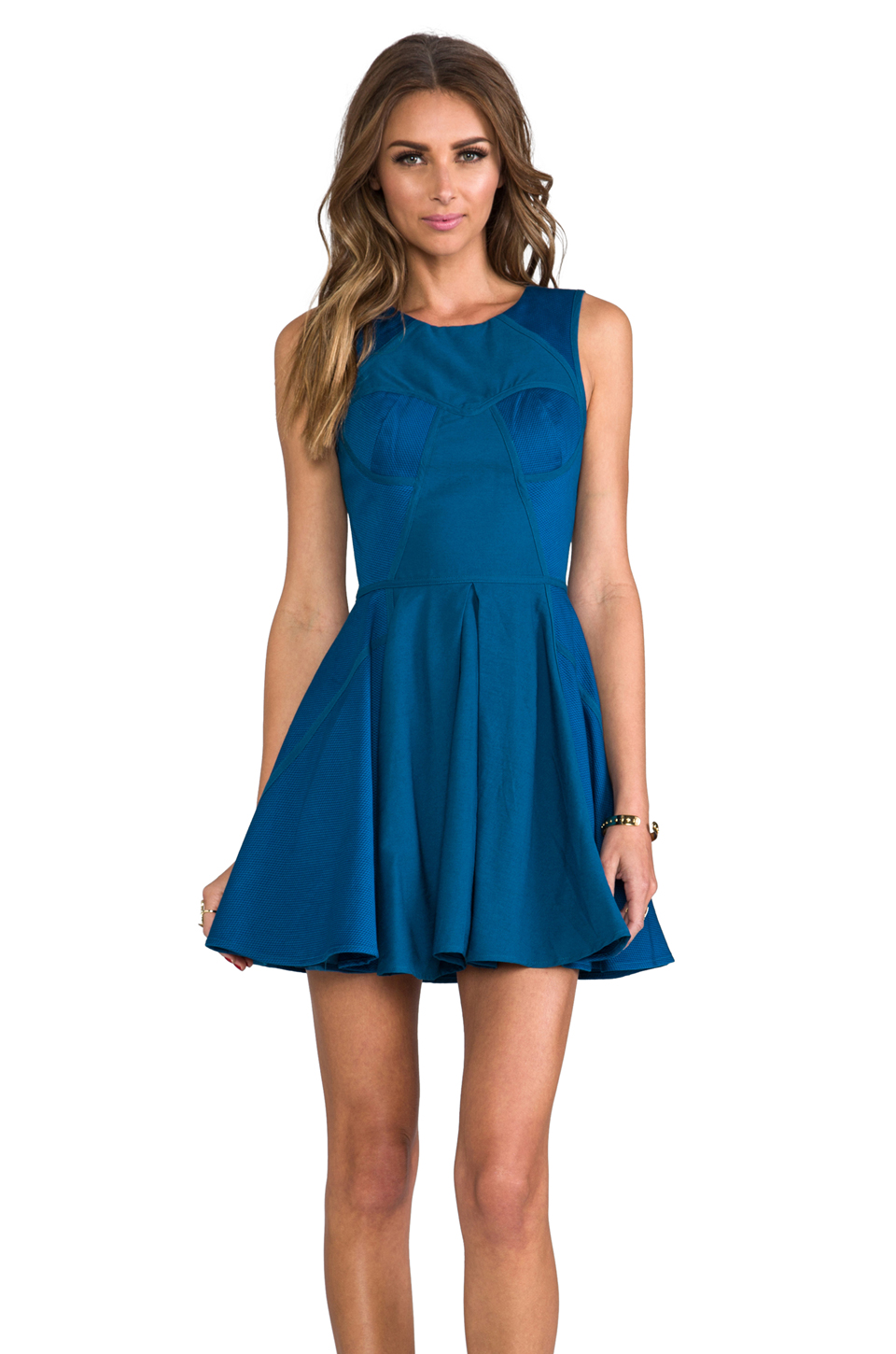 Finders Keepers Back to December Dress in Teal