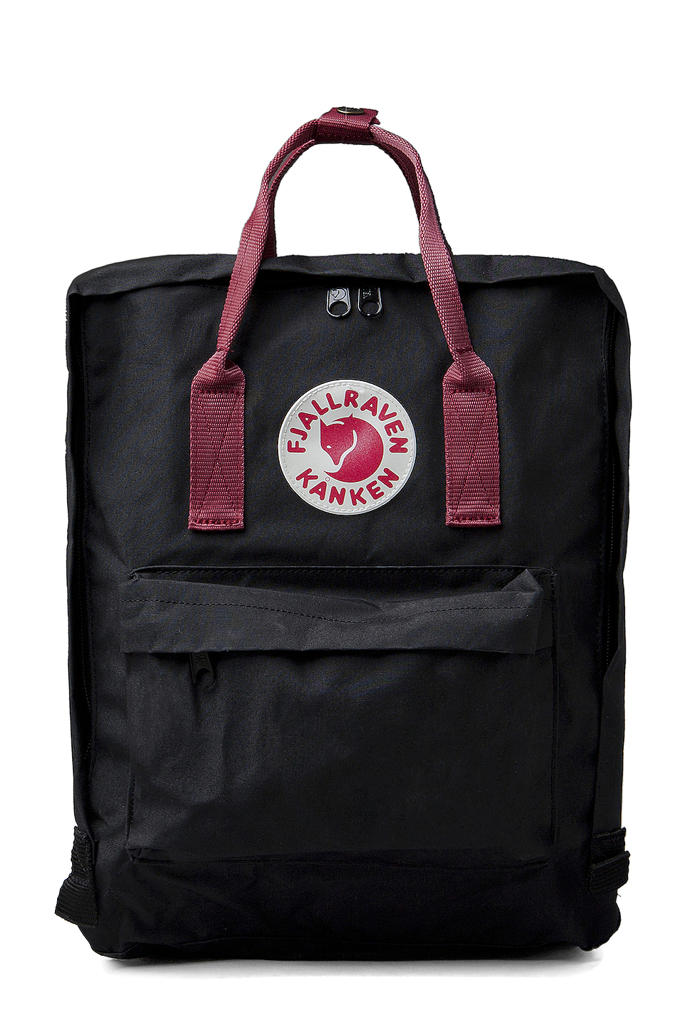 Fjallraven Kanken in Black/Ox Red