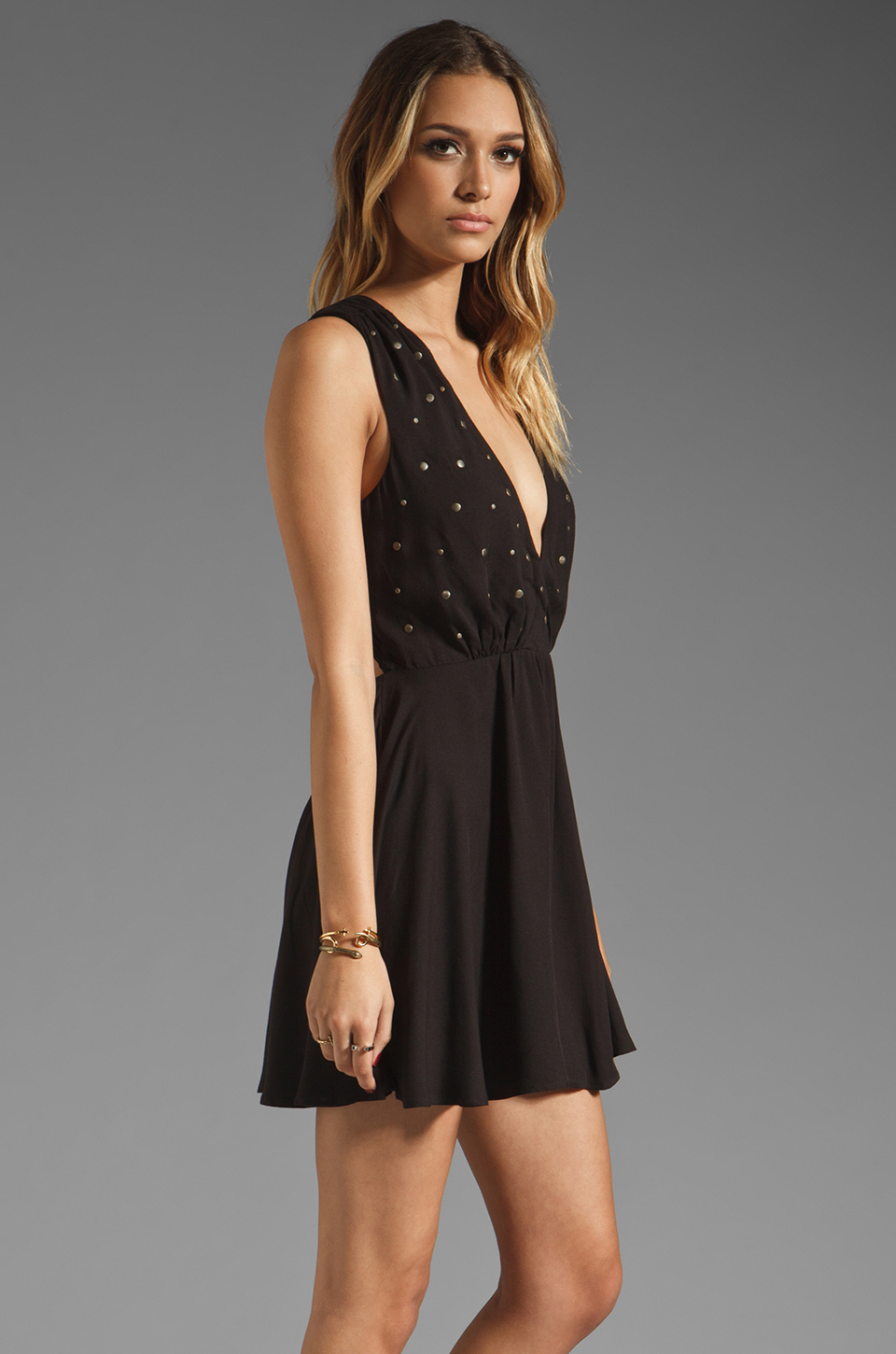 For Love & Lemons Little Lover Dress in Black