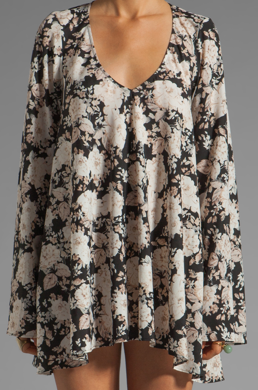 For Love & Lemons Daytripper Dress in Black Floral