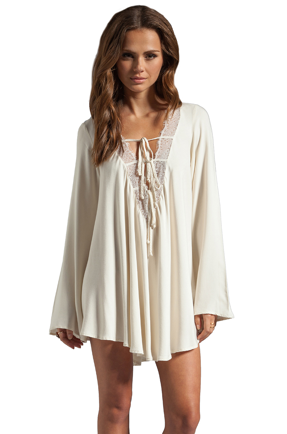 For Love & Lemons Dreamer Dress in White