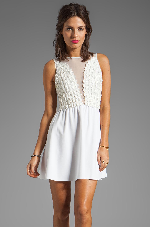 For Love & Lemons Lulu Dress en Ivoire