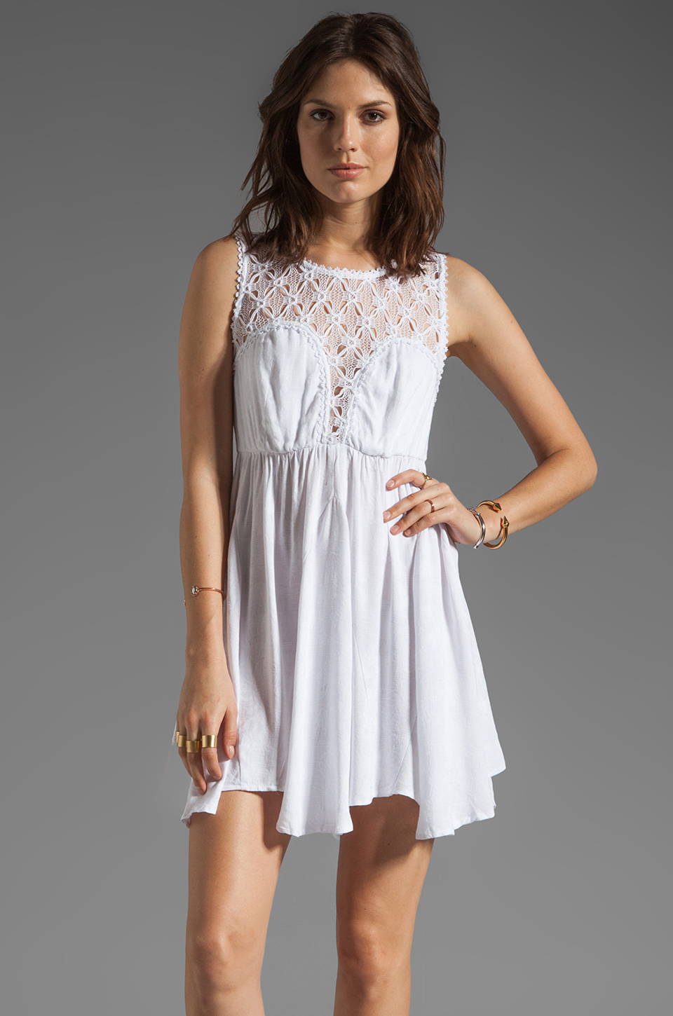 Free People Fiesta Dress in White