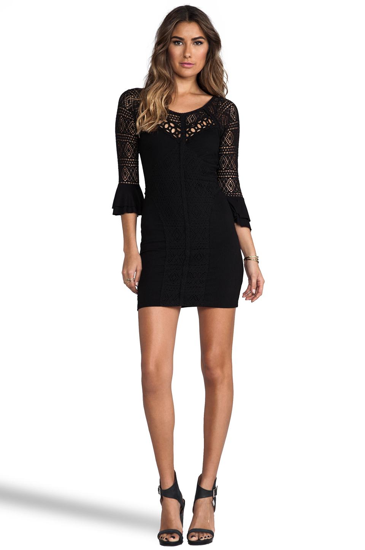Free People City Girl Body Con Dress in Black