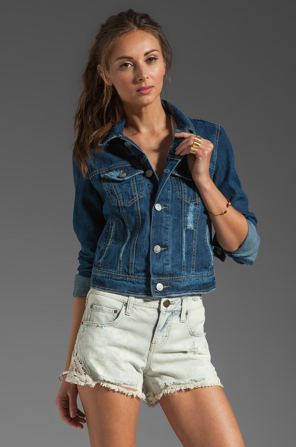 Free People Denim Jacket in True Blue