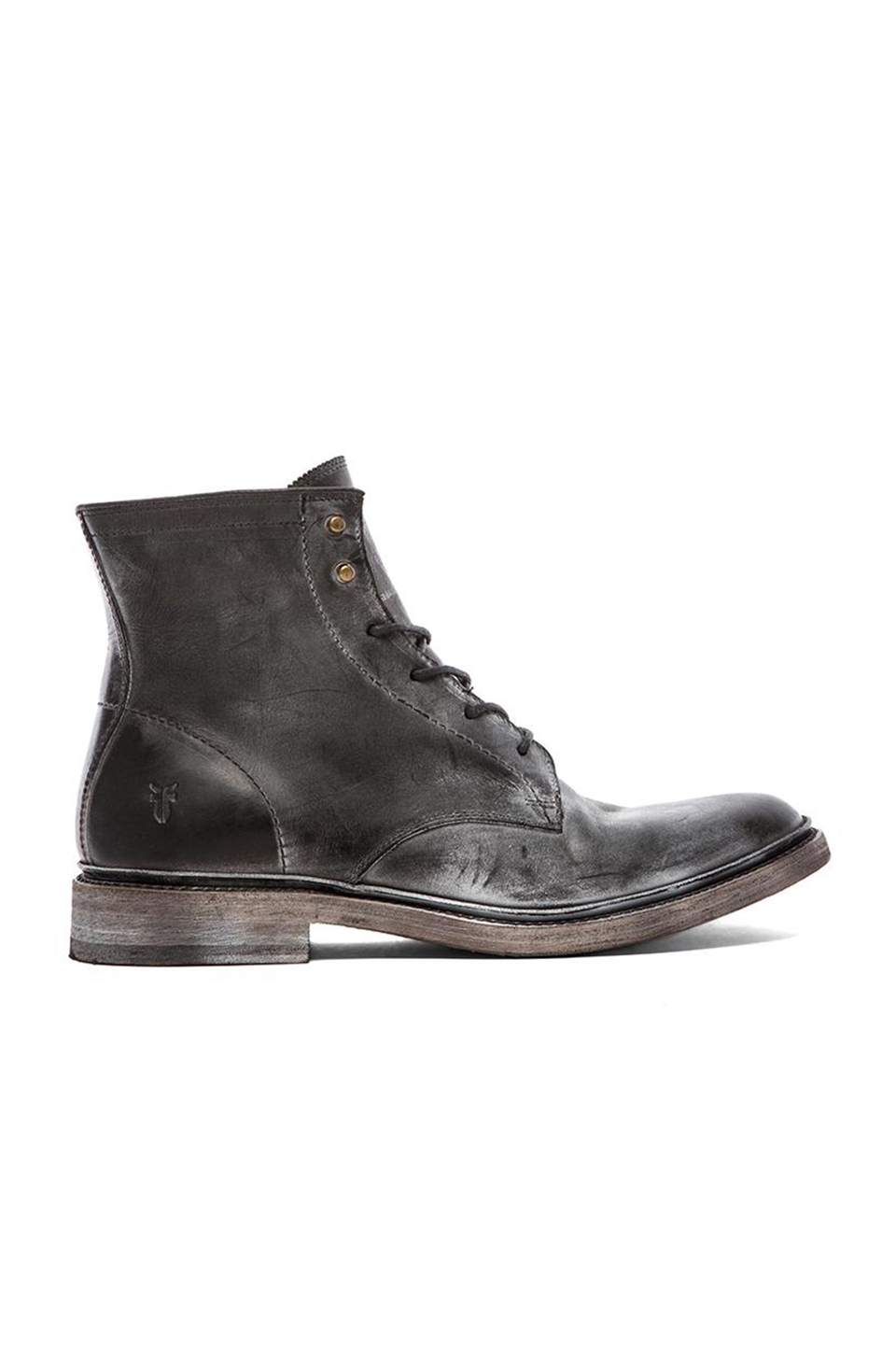 Frye James Lace Up Boot in Black