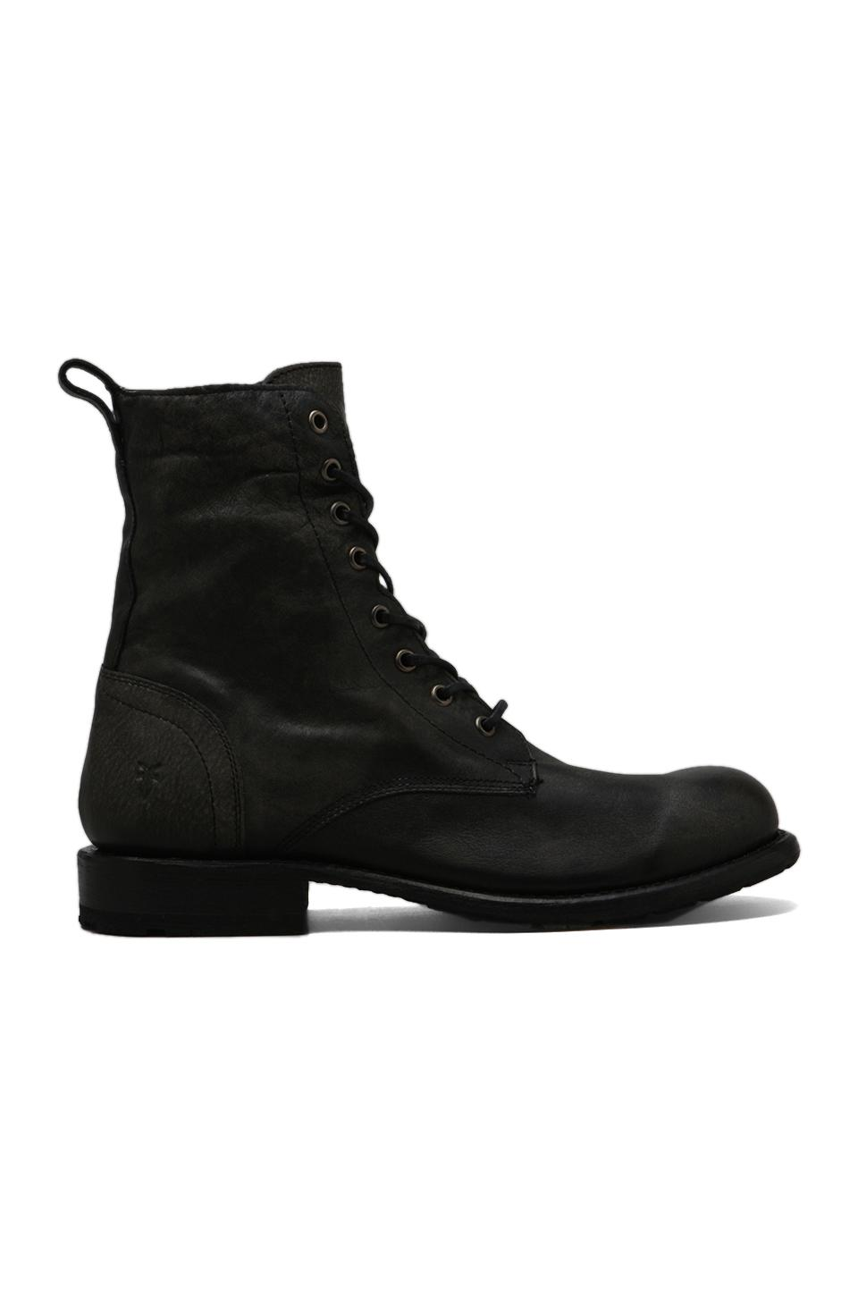 Frye Rogan Tall Lace Up Boot in Black