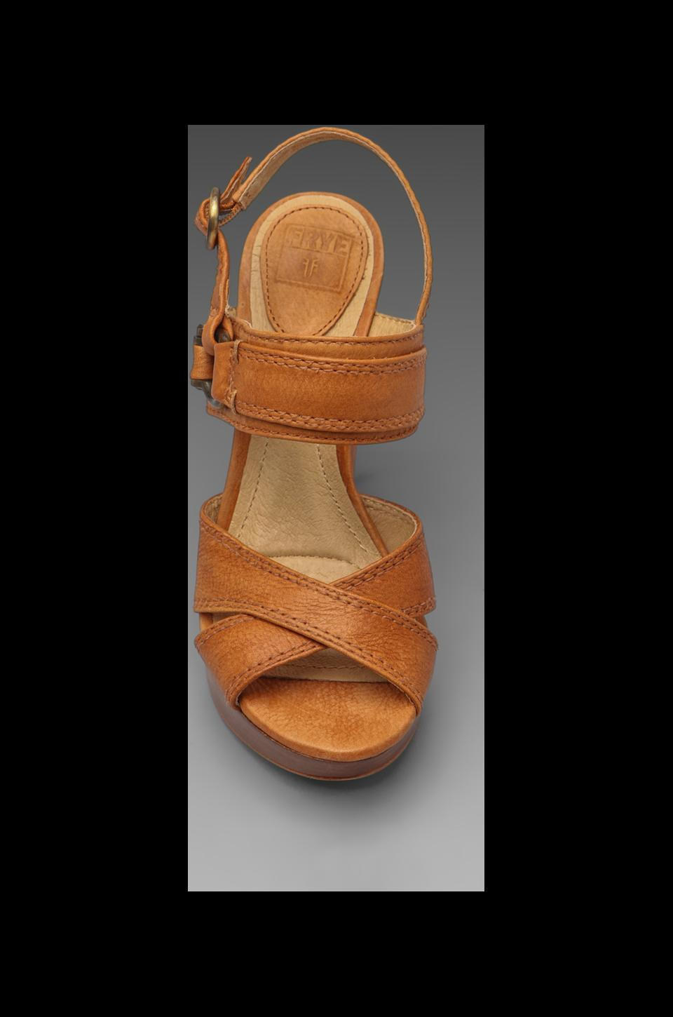 Frye Hannah Alexa Criss Cross Wedge in Natural