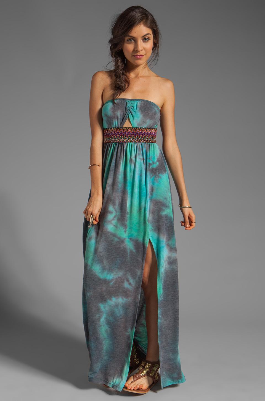 Gypsy Junkies Talulah Maxi Dress in Teal Tie Dye