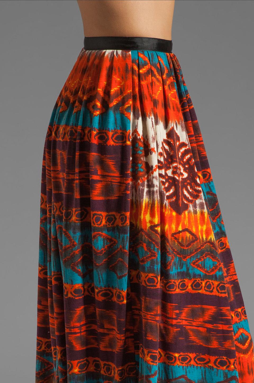 Gypsy Junkies Oceana High Slit Maxi Skirt in Topanga Dark