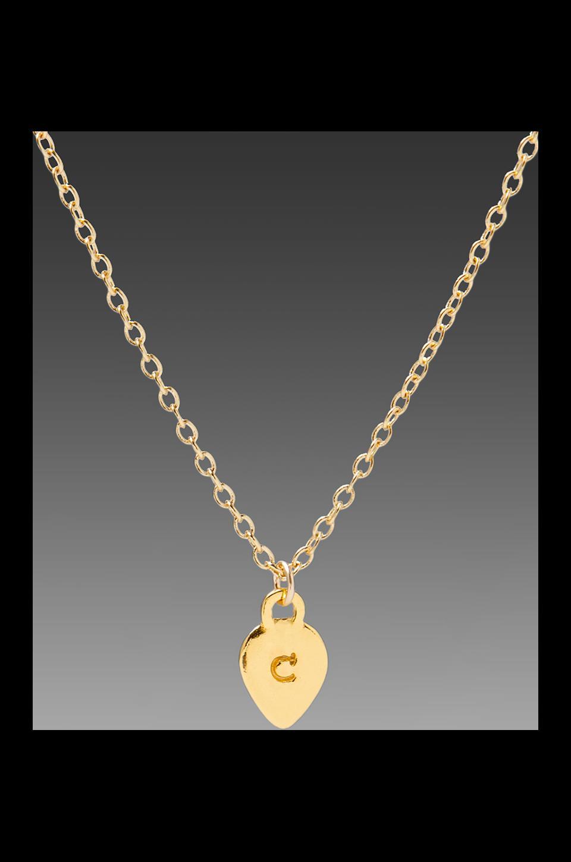 gorjana Alphabet Charm Necklace in 'C'