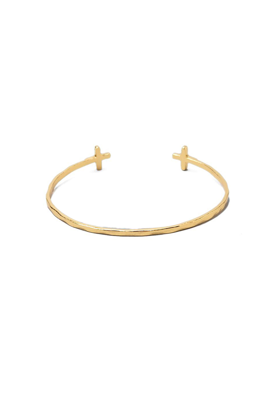 gorjana Cross Over Cuff Bracelet in Gold
