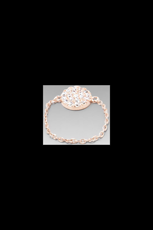 gorjana Shimmer Disc Chain Ring in Rosegold