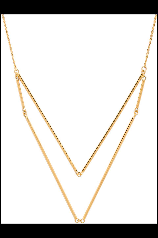 gorjana Greer V-neck Layer Necklace in Gold