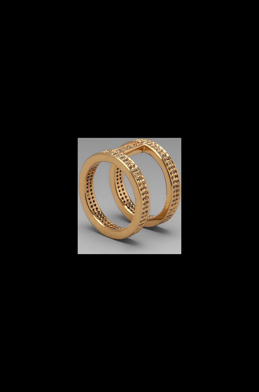 gorjana Lena Shimmer Double Bar Ring in Gold