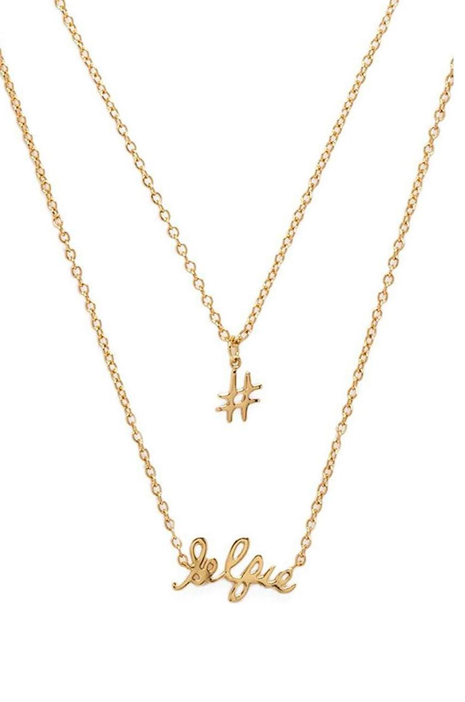 #Selfie Necklace Set