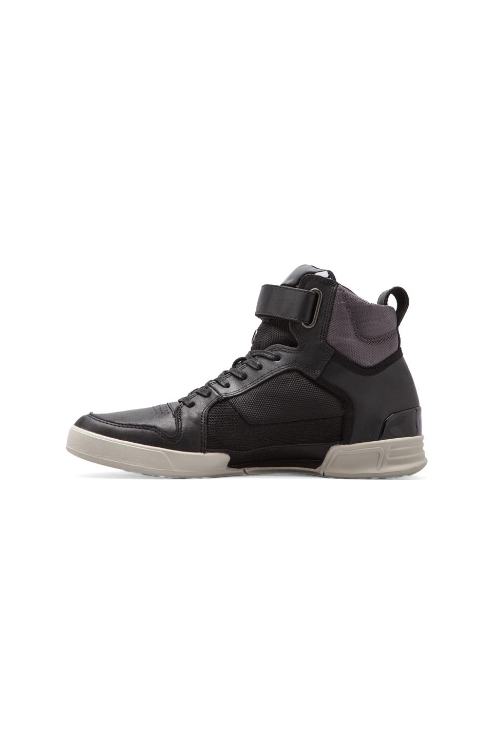 G-Star Yard Bullion in Black Leather & Textile