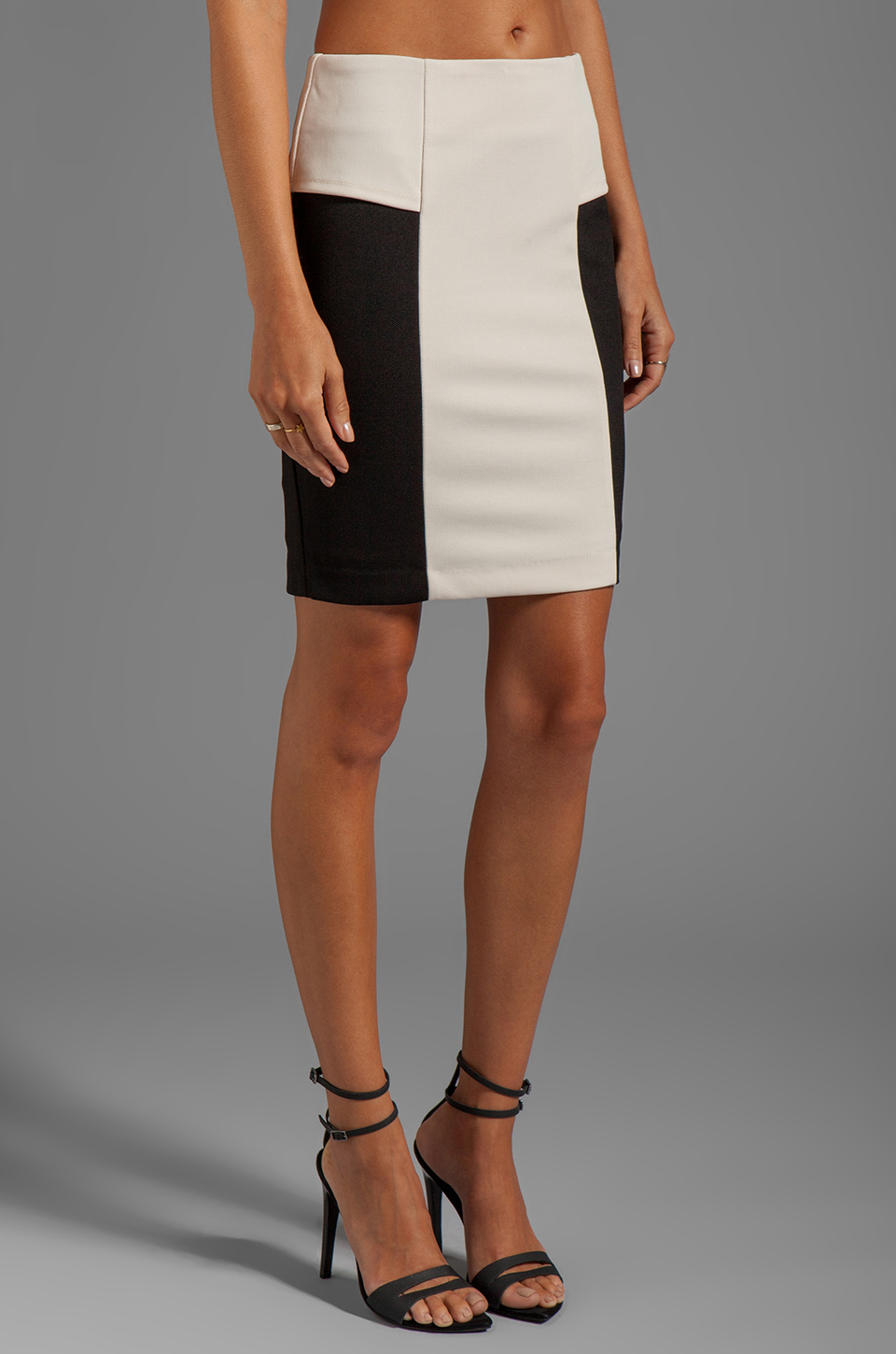 Greylin Angelina Peplum Skirt in Ivory