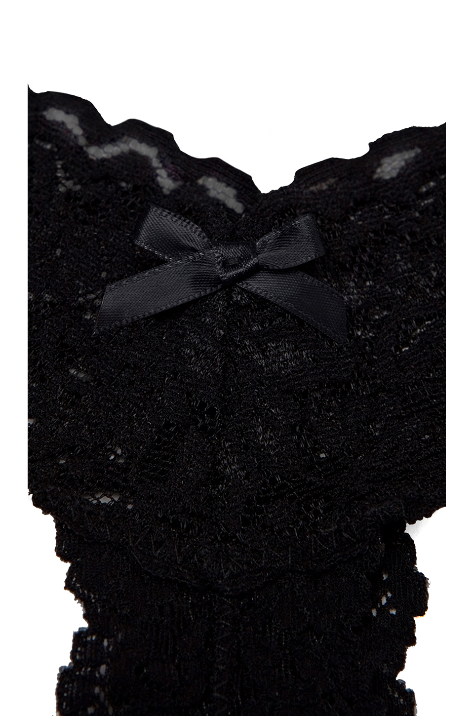Hanky Panky AFTER MIDNIGHT Open Crotch Low Rise Thong in Black