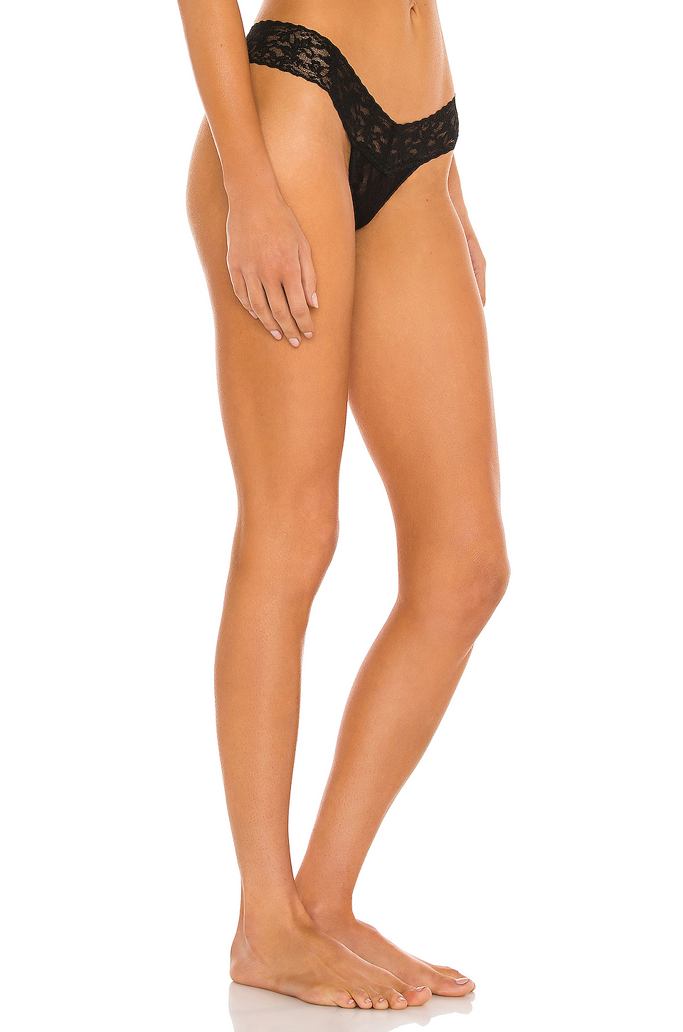Hanky Panky Signature Lace Petite Low Rise Thong in Black