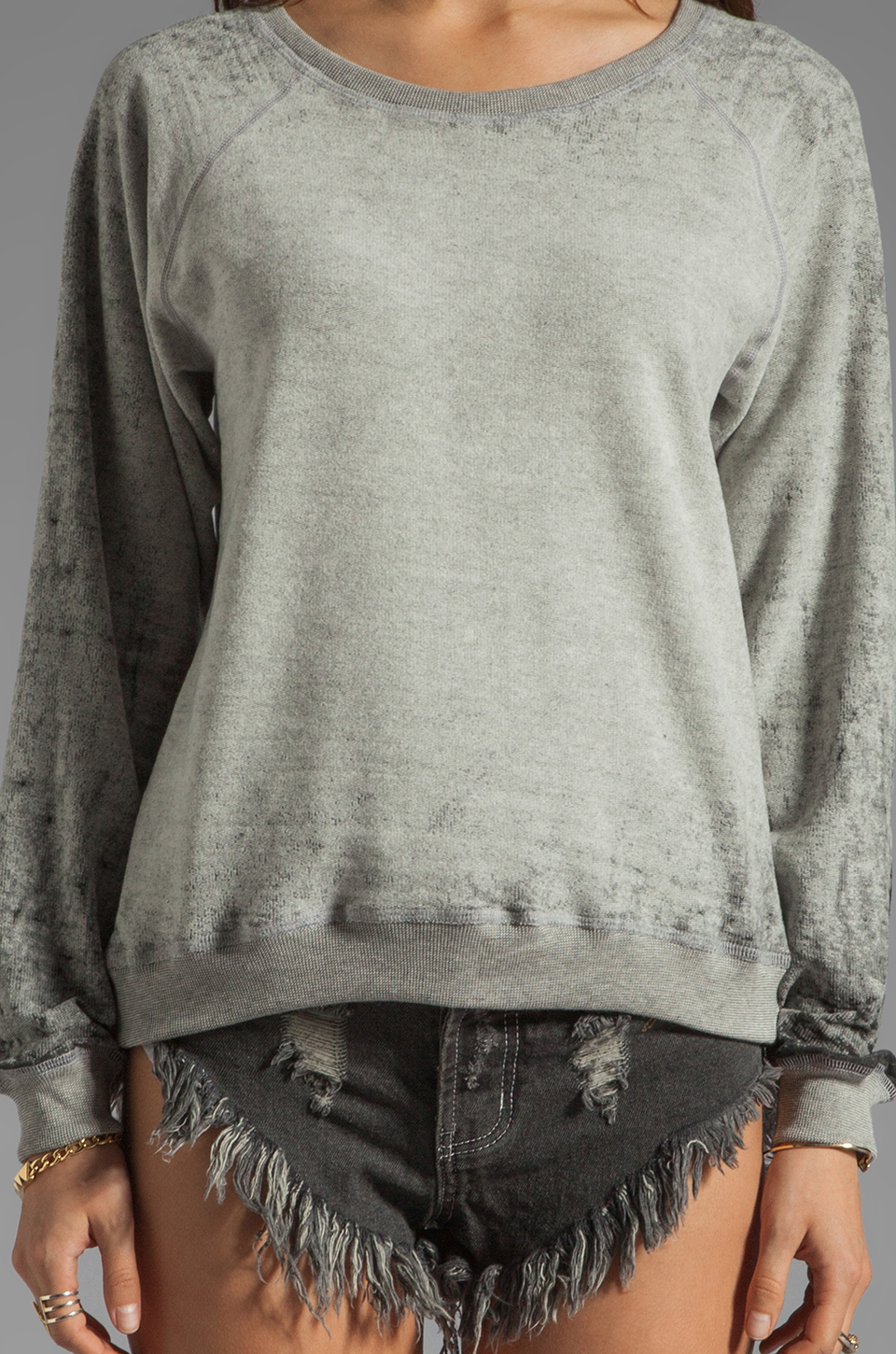 MONROW Vintage Sweatshirt in Heather