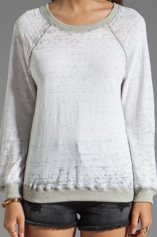 MONROW Vintage Sweatshirt in White