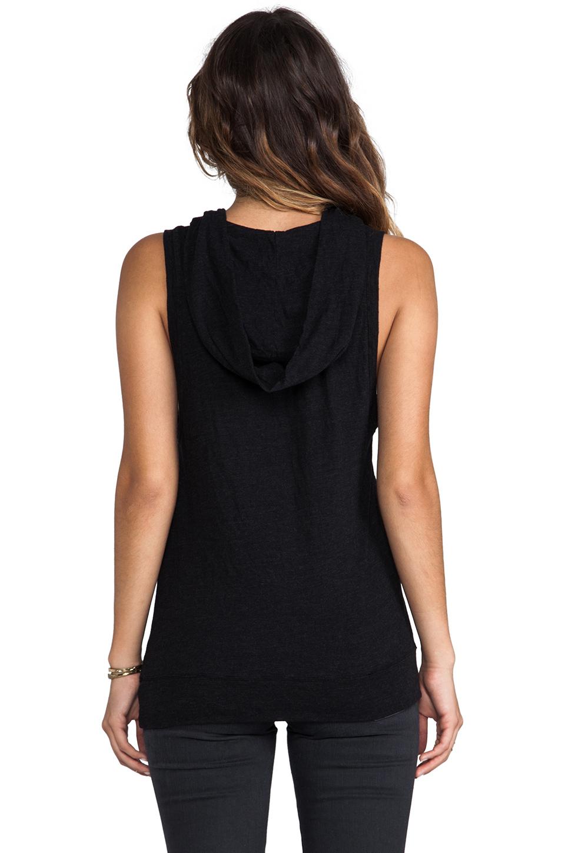 MONROW Sleeveless Hoody in Black
