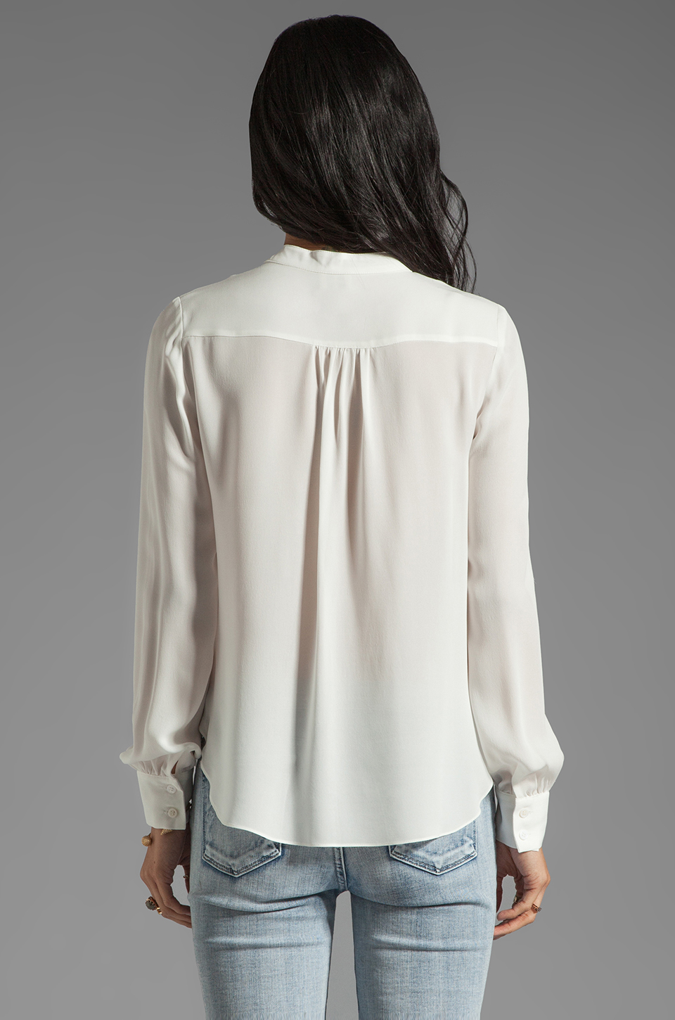 Haute Hippie Lace Detailed Blouse in Swan