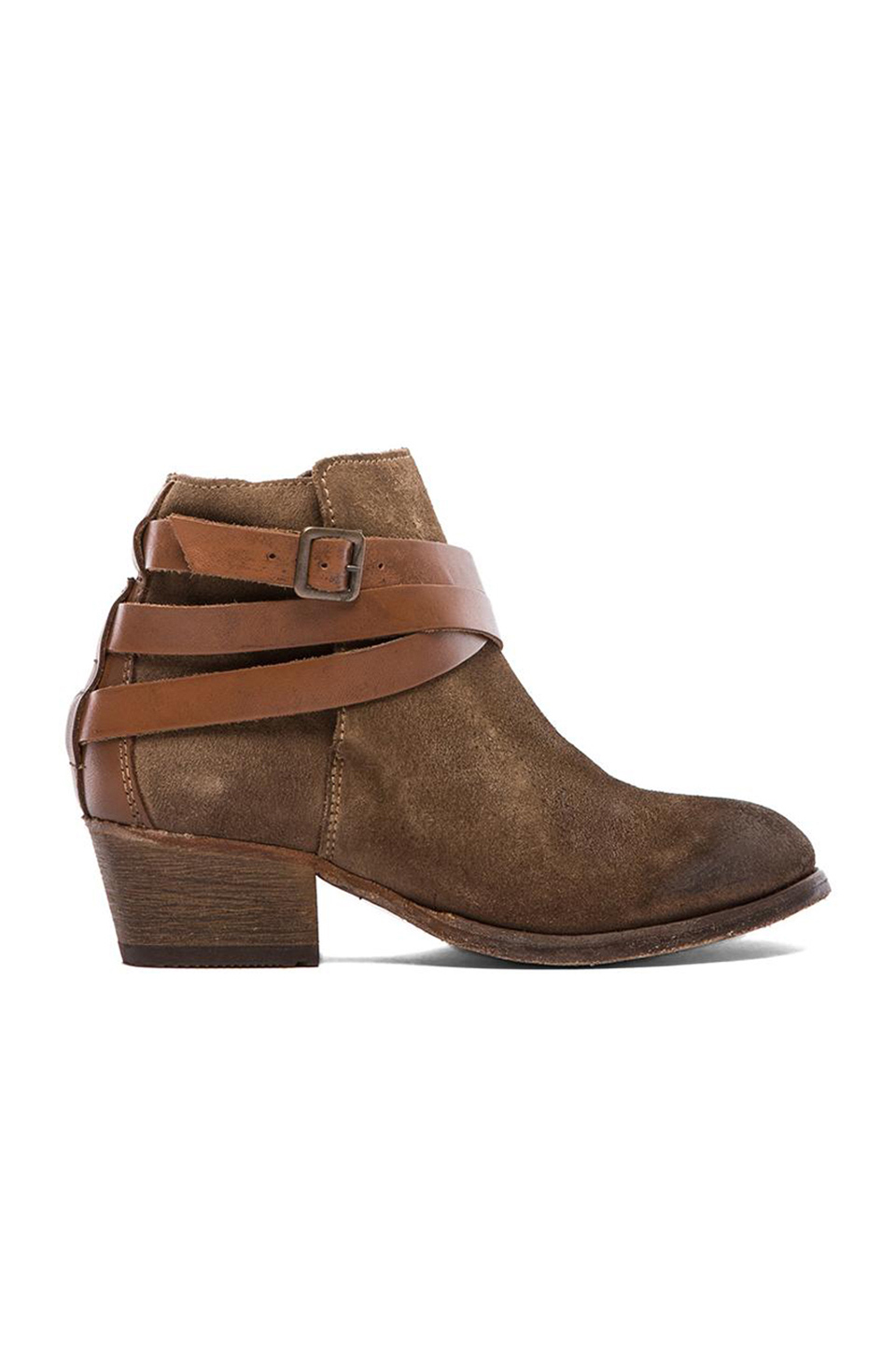 H by Hudson Horrigan Multi Suede Bootie in Beige