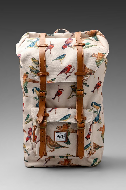 Herschel Supply Co. Bad Hills Workshop Little America in Watercolored Bird Print