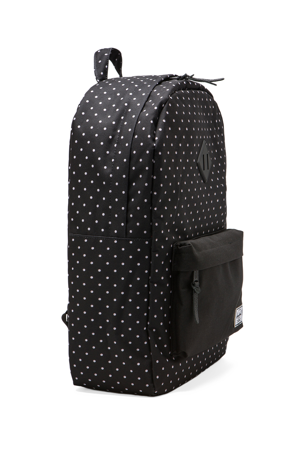 Herschel Supply Co. Heritage Polka Dot Backpack in Black/White