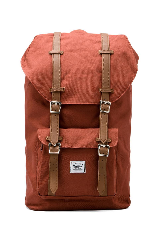 Herschel Supply Co. Little America Backpack in Rust