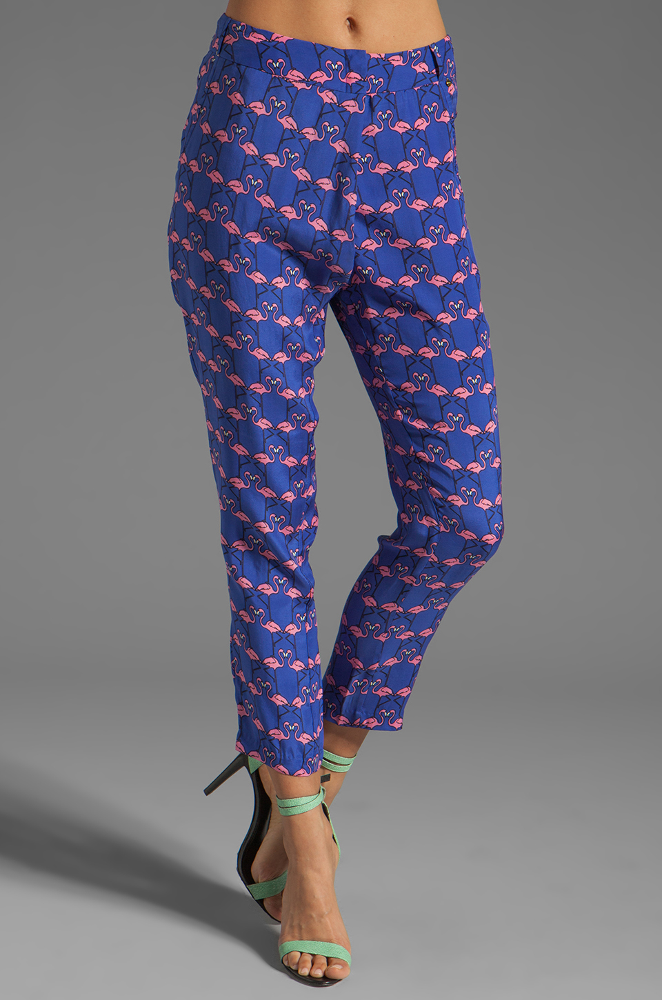 harlyn Peg Leg Trouser in Flamingo Print
