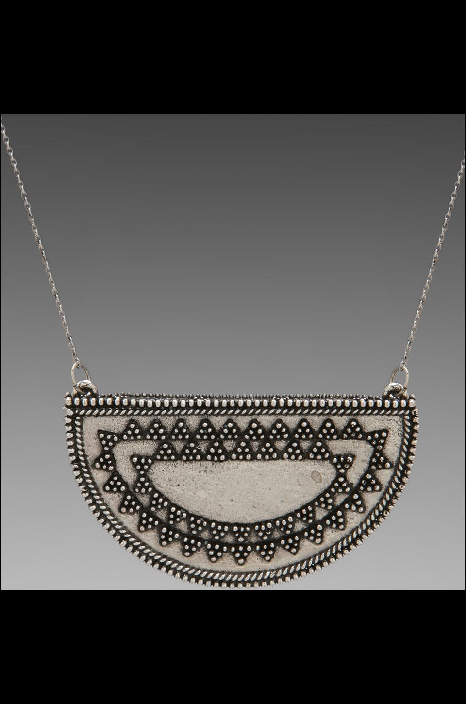 House of Harlow Tuareg Granulation Necklace in Antique Silver